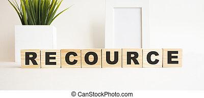 tavola., lettere, fondo., legno, bianco, parola, cubi, recource.