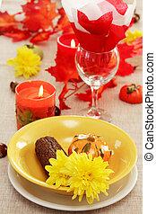 tavola mette, autunno