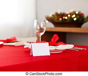 tavola, montaggio cena, natale