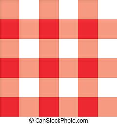 tavola, plaid, picnic, panno rosso