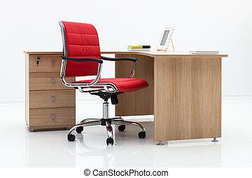 tavola rossa, sedia