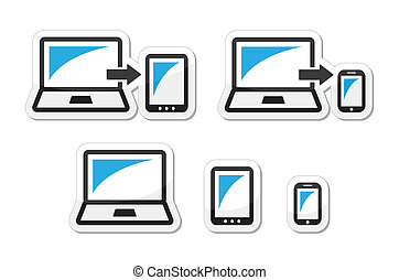 tavoletta, -, laptop, disegno, sensibile