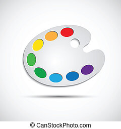 tavolozza, arte, moderno, illustrazione, vettore, otto, colori