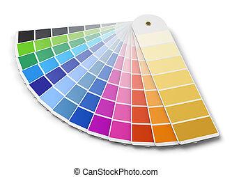 tavolozza dei colori, guida, pantone