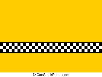 taxi, giallo