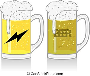 tazza birra, bianco