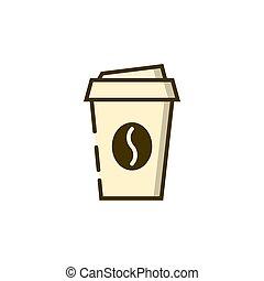 tazza caffè, disponibile, contorno, icona