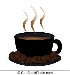 tazza caffè, grani