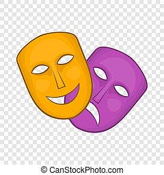 teatrale, commedia, tragedia maschera, icona
