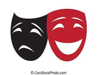 teatrale, [converted], maschere