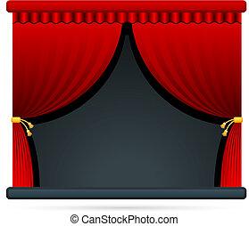 teatro, film, palcoscenico