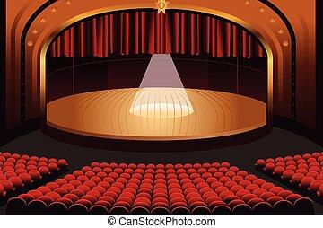 teatro, palcoscenico vuoto