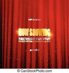 teatro, premiere, manifesto, design.