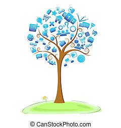 tecnologia, albero