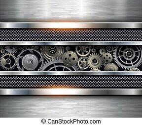 tecnologia, ingranaggi, fondo
