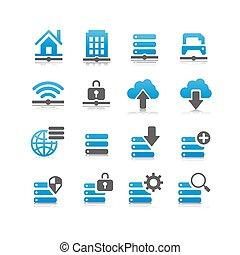 tecnologia, rete, icona