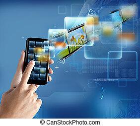 tecnologia, smartphone, moderno
