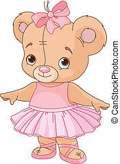 teddy, ballerina, orso, carino