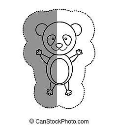 teddy, contorno, orso, icona