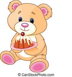 teddy, torta, orso