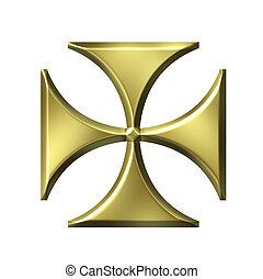 tedesco, dorato, croce