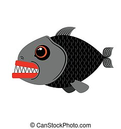 teeth., occhi, fish, mare, affilato, marino, pauroso, fondo., piranha, terribile, predatore, bianco