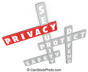 tegole, parola, protezione, intimità, difesa, sicurezza, lettera, sicurezza, 3d