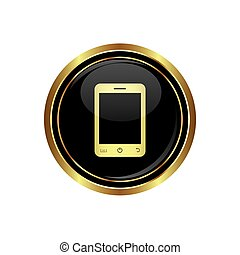 telefono, bottone, mobile