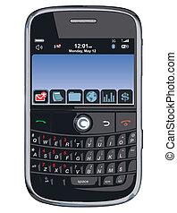 /, telefono cellulare, vettore, pda, /blackberry