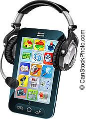 telefono, chiacchierata, concetto, mobile