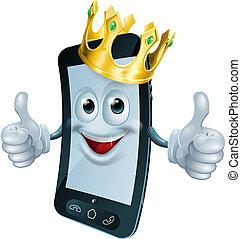 telefono, corona, uomo