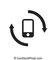 telefono, dati, analisi, icona
