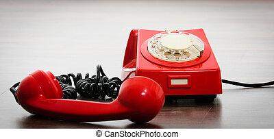 telefono, importante, rosso