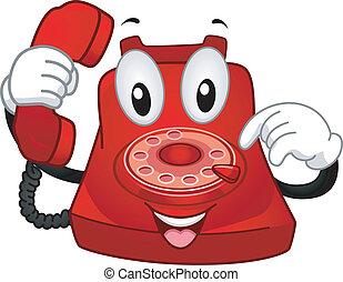 telefono, mascotte