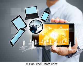 telefono mobile, concetto, affari