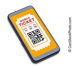 telefono mobile, far male, biglietto