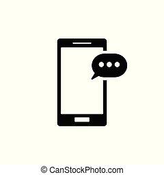 telefono mobile, icon., sms