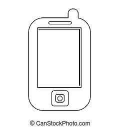 telefono mobile, icona