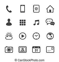 telefono mobile, icone