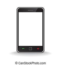 telefono mobile, moderno, far male