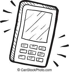 telefono mobile, schizzo