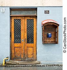 telefono, porta, legno