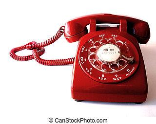 telefono, rosso
