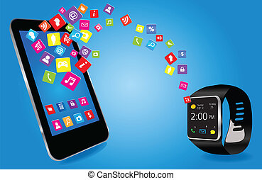 telefono, smartwatch, far male