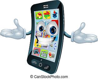 telefono, uomo, mobile