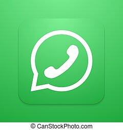 telefono, vettore, bolla, icona, discorso, moderno