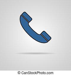 telefono, vettore, illustrazione, icona