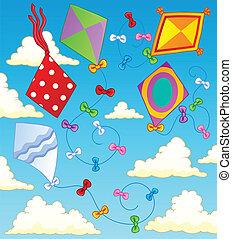tema, 2, cervi volanti, immagine