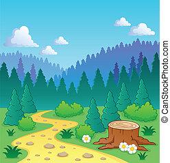 tema, 2, foresta, immagine