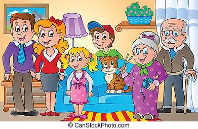 tema, 2, immagine, famiglia
